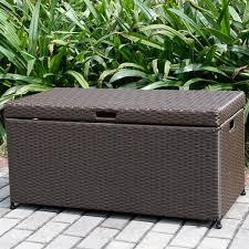 Green Wicker Patio Furniture - amazon com outdoor 70 gallon wicker deck storage box color