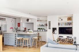 cuisine avec ot central cuisine ouverte sur salon 30m2 2 cuisine americaine ilot