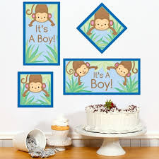 monkey boy baby shower monkey boy baby shower diy party sign cutout
