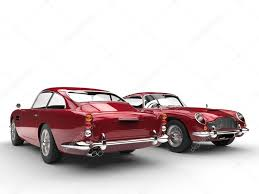 vintage cars cherry red classic vintage cars front and back view u2013 stock