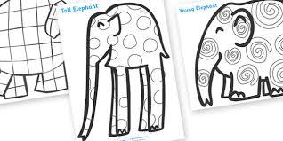 elmer patterns colouring sheets ideas la clase