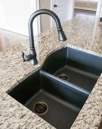 black granite composite sink black granite composite sink with kohler oil rubbed bronze faucet