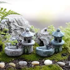 2pcs vintage mosque pond waterpot garden rockery miniatures