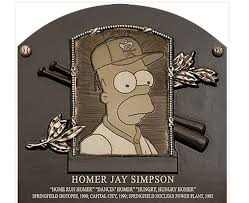 Homer Woo Hoo Homer Simpson U0027inducted U0027 Into Baseball Hall Of Fame The