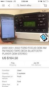 2000 2001 2002 ford focus oem am fm radio tape deck bluetooth
