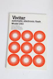 vivitar automatic electronic flash 283 instruction manual english