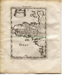 Brittany France Map 1719 Manesson Mallet