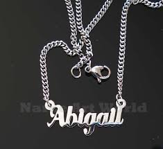stainless steel name necklace images Abigail name necklaces stainless steel next day ship never jpg