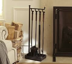 Fireplace Toolset - industrial fireplace tool set pottery barn