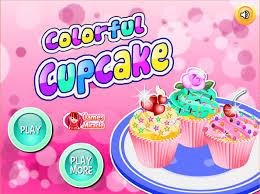 colorful cupcake online game for girls cupcake making videos