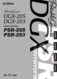 yamaha electronic keyboard portablegrand dgx 205 user guide