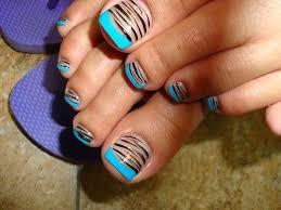 20 super cute pedicure trends striped toe nails and toe