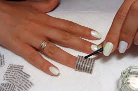 ideas manicure at home how to make a newspaper manicure beauty