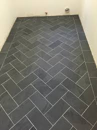 Herringbone Bathroom Floor by Week 4 One Room Challenge Room Laundry And Laundry Rooms