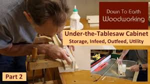 Under Table Cabinet Under Table Saw Storage Cabinet Part 2 Youtube
