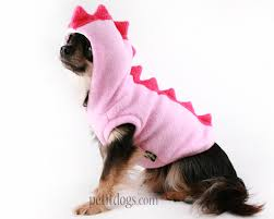halloween costumes for yorkies dogs dog costume dinosaur spikes pink fleece hoodie in all sizes