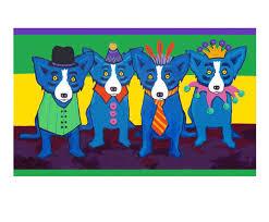 blue mardi gras estate sted blue dog prints george rodrigue studios