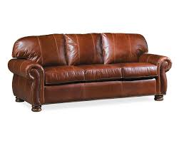 Leather And Tapestry Sofa Benjamin 3 Seat Sofa Leather Thomasville Furniture