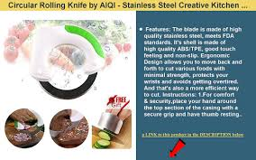 Creative Kitchen Knives Circular Rolling Knife By Aiqi Stainless Steel Creative Kitchen