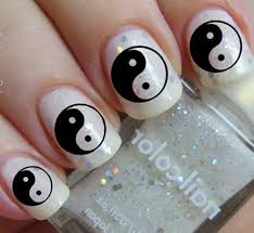 yin yang nail art decals clear and black yyc north of salem