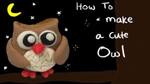 play doh how to make a cute owl diy for deco u0026 kids youtube