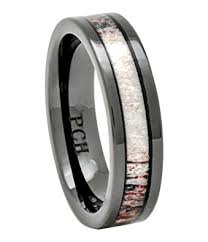 deer antler wedding band deer antler ring in black ceramic 6mm comfort fit