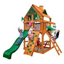 Home Depot Playset Installation Gorilla Playsets Blue Ridge Chateau Ii Wood Swing Set Hayneedle