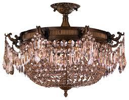 crystal semi flush mount lighting 1st avenue mariella 4 light crystal semi flush mount chrome with