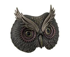 steampunk owl necklace images Steampunk owl mask wall plaque steampunk wall hangings gifts jpg