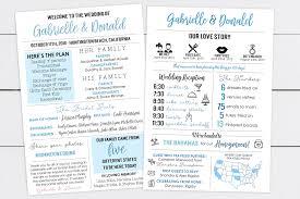 Unique Wedding Programs Printable Infographic Wedding Program Unique Wedding Program Fun