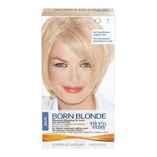 best drug store hair bleach for maximum lightening clairol nice n easy born blonde maxi permanent hair color kit