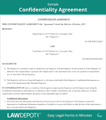 confidentiality agreement free confidentiality contract us
