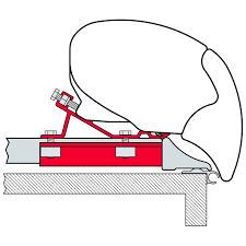 Fiamma F65 Awning Fiamma F65 Awning Adapter Kit Fixing Bar 98655 384 Roof Bars Ebay