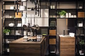kitchen style industrial kitchen islands concrete flooring