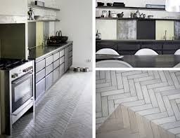 gray and white herringbone tile floors black white yellow