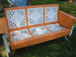 Old Metal Patio Furniture Bench Vintage Metal Glider Bench Our Life On The Hill Vintage