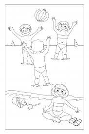 match coloring pages u2013 beach ball kidspressmagazine
