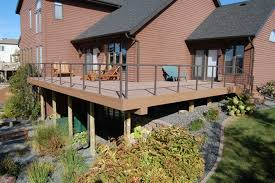 alluring home exterior decoration with various deck top rail