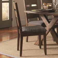 alston ladder back dining chair set of 2 dining chairs coa