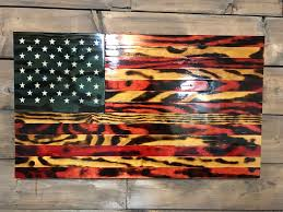 How To Display American Flag On Wall Rustic Glory American Flag Military Veteran Made Wood