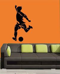 mesleep football design black wall sticker amazon in home kitchen