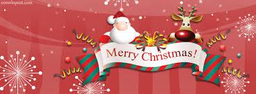 merry christmas banner santa reindeer merry christmas banner cover santa