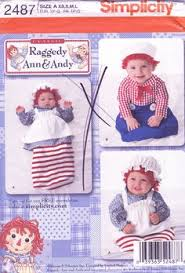 Infant Halloween Costume Patterns Mccalls 5660 Infant Baby Raggedy Ann U0026 Andy Costume Sewing Pattern