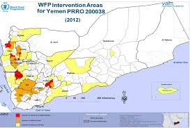 World Hunger Map by Plotting The 2012 War Against Hunger In Yemen Author William Lambers