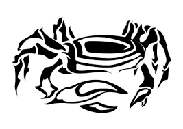 cancer zodiac tribal tattoos crab tattoo design royalty free