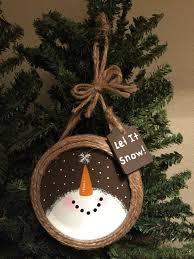 jar ring snowman ornament snowman