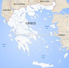 Where Is Greece On The World Map by Greece Physical Map