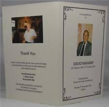 Memorial Booklet Funeral Order Of Service Ebay