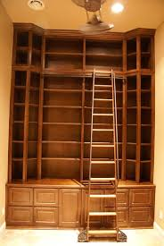 Library Bookcases With Ladder Custom Bookcases With Library Ladders U2022 Platinum Cabinetry In Las