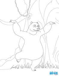 baloo is dancing coloring pages hellokids com